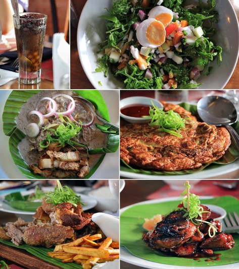 native Filipino dishes at Sulyap Cafe and Restaurant