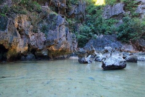 inside the Tangke Saltwater Lagoon, Gigantes Sur