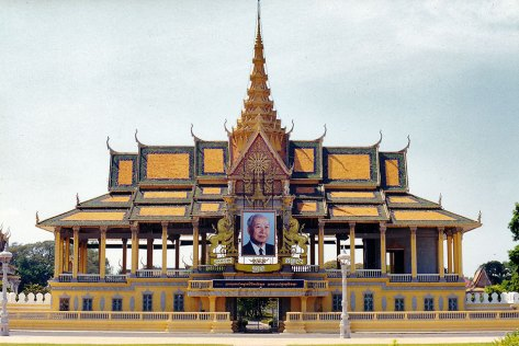 Moonlight Pavilion with a picture of the late King Norodom Sihanouk