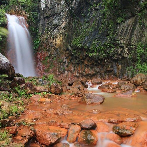 Pulangbato Falls at Valencia, Negros Oriental