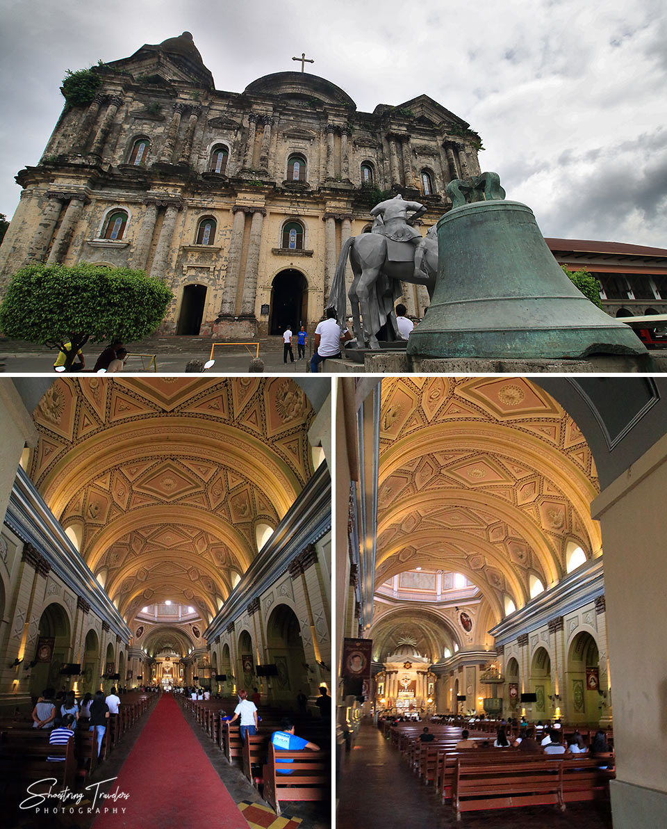 interior and exterior shots at the Basilica of St. Martin of Tours, Taal, Batangas