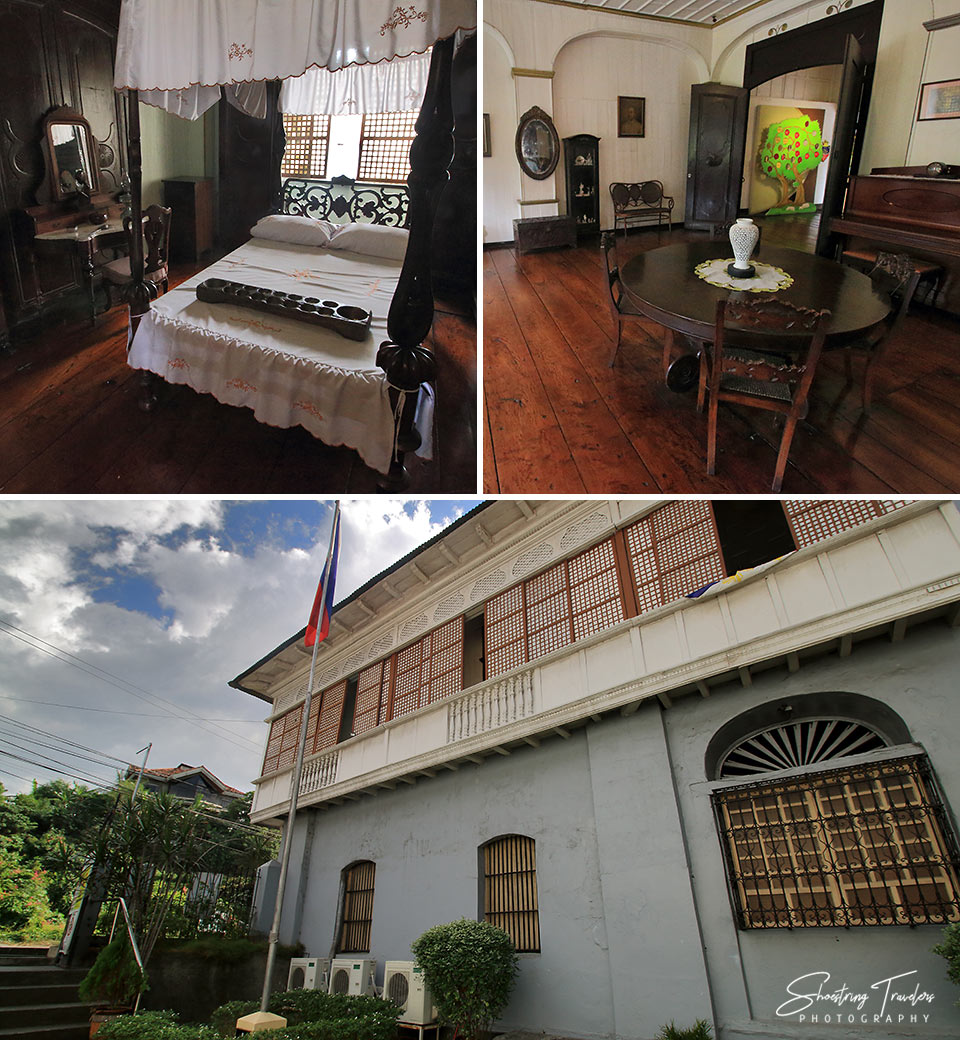 interior and exterior shots of the Doña Marcela Agoncillo Museum, Taal Heritage Town