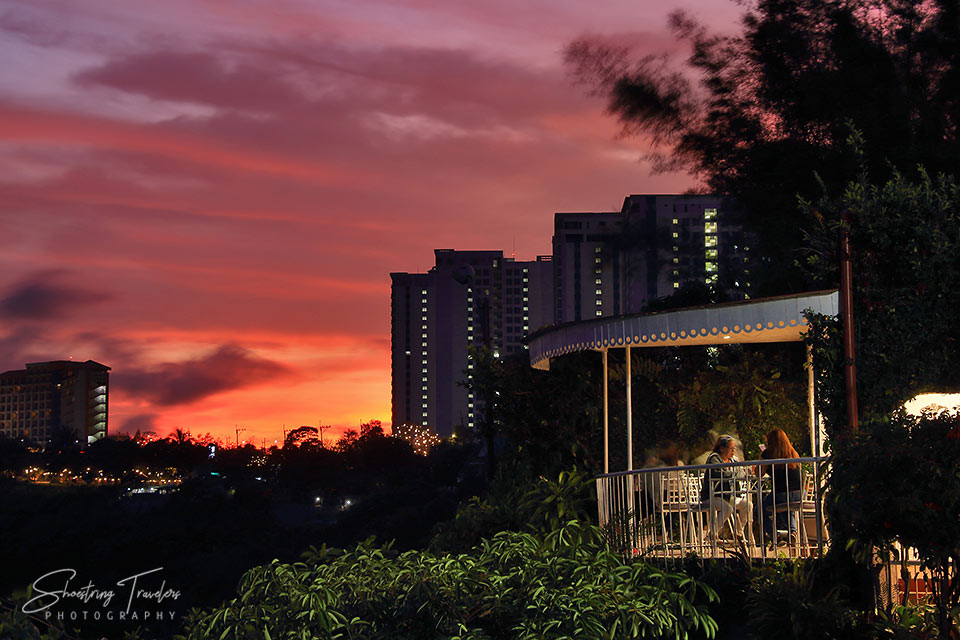 sunset at Tagaytay Ridge viewed from Charito's by Bag of Beans